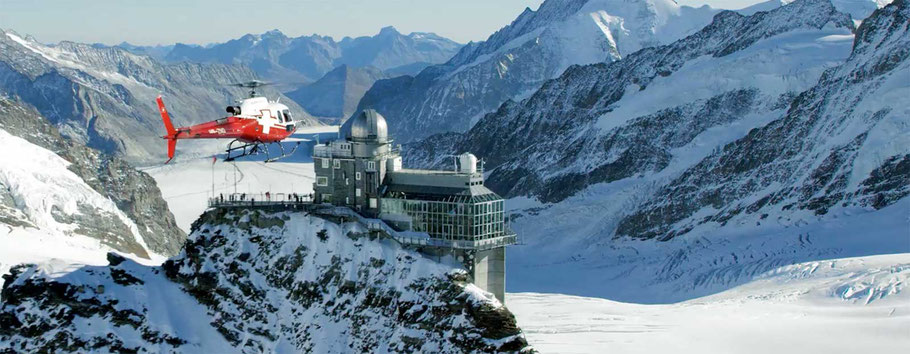 Jungfraujoch mit sicht Richtung Aletschgletscher