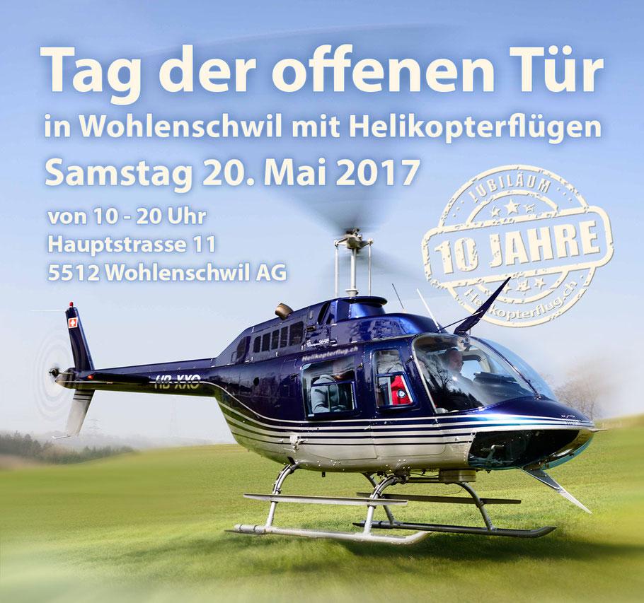 Helikopterflug 10 Jahre Tag der offenen Tür