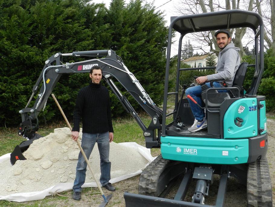 Julien et Romain avec leur nouveau joujou !