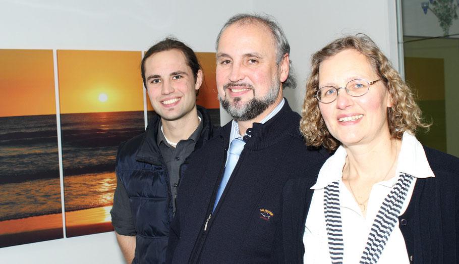 Peter und Kerstin Drittler mit dem Sohn Jonael Drittler