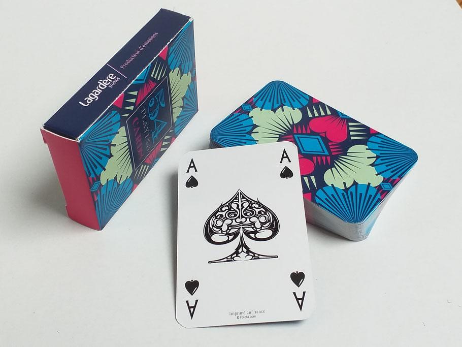 jeux de carte personnalisé JEUX DE CARTES PERSONNALISES Recto et Verso   Jeux de cartes