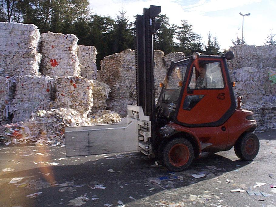 Ballenklammer in der Papierindustrie