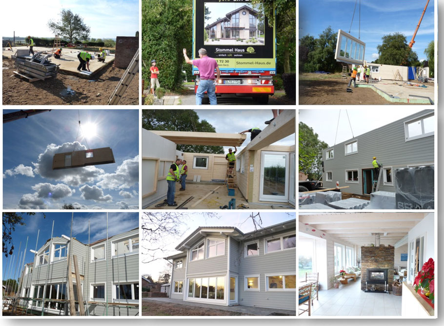 Building a prefabricated eco house - series of pictures by Stommel Haus