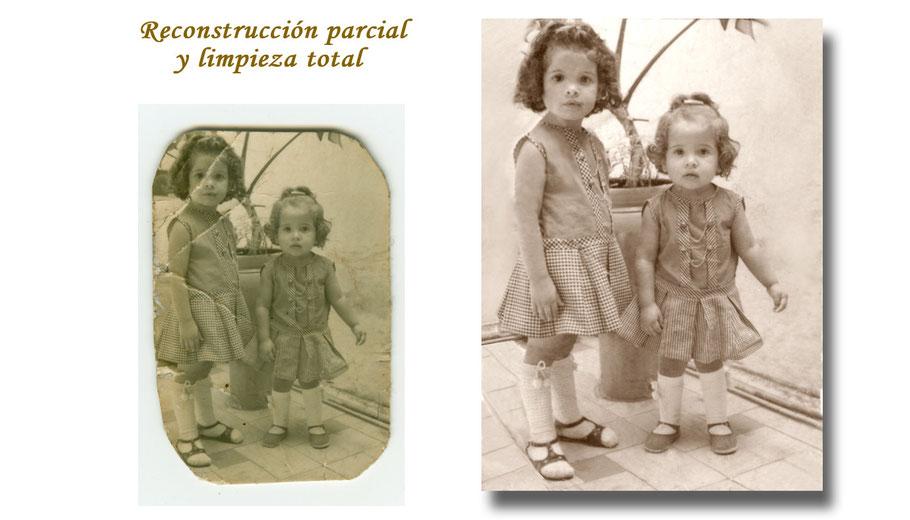 RESTAURACIÓN FOTOGRÁFICA DIGITAL (reconstrucción parcial y limpieza total)