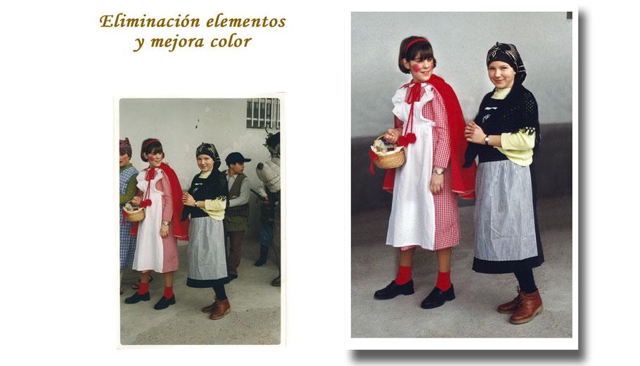 RESTAURACIÓN FOTOGRÁFICA DIGITAL (Eliminación de elementos y mejora del color)