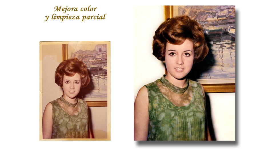 RESTAURACIÓN FOTOGRÁFICA DIGITAL (Mejora de color y limpieza general)