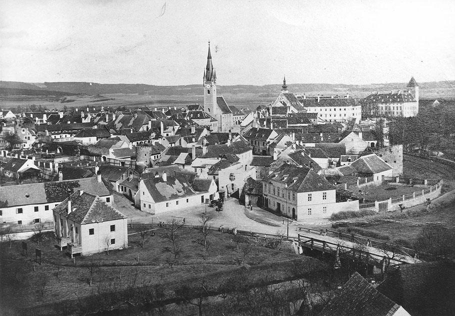 Historisches Foto vom Schützenplatz Horn im Jahre 1890 aus der Sammlung Wolfgang Andraschek.