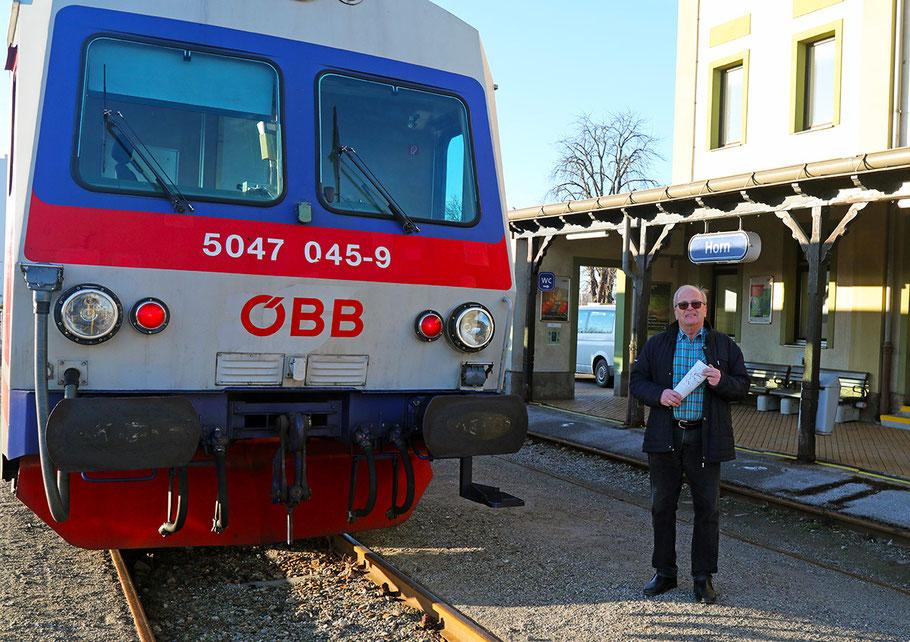 """Verkehrsplaner Rudolf Schwarz, """"Erfinder"""" der Anbindung Horns an die Franz-Josefs-Bahn, schlägt nun weitere Maßnahmen vor. Bild: © Josef Pfleger"""