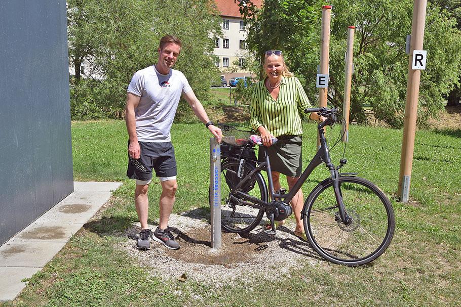 Stadtrat DI Reinhard Litschauer und Familienstadträtin Maria van Dyck (Foto: Stadtgemeinde Horn/Welser)