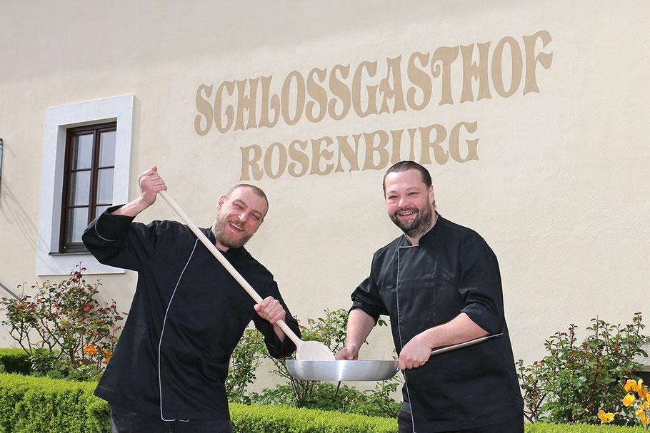 Die neuen Chefköche auf der Rosenburg:  Gunther Trimmel (li.) und Markus Wachter