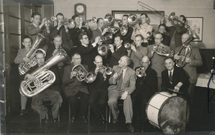 Bläserabteilung im Jahre 1955