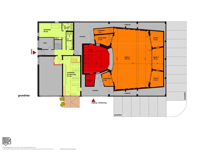 Gabriel Recording - Recording Studio Floorplan Grundriss - Biggest Recording Studio in Switzerland- Largest Recording Studio in Switzerland