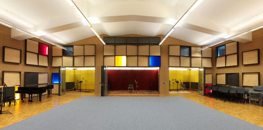 Gabriel Recording - Aufnahmeraum mit 170m2 - Biggest Recording Studio in Switzerland- Largest Recording Studio in Switzerland