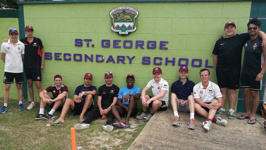 Warwick University, UK Cricket Team at St. George Secondary School, BARBADOS.