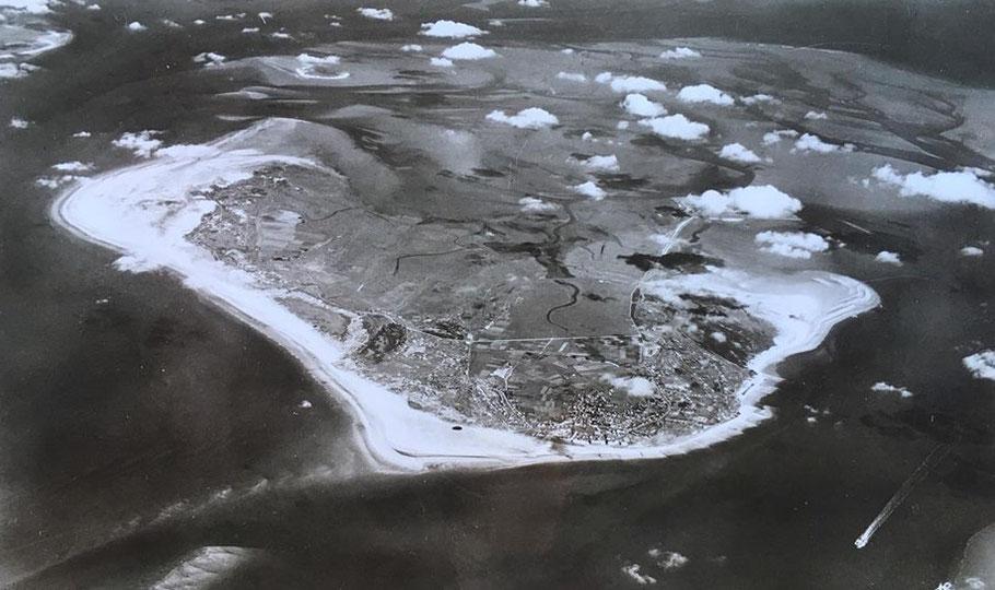 Insel, Borkum, Luftbild alt, Luftbild, Strand, FEWO, Ferienwohnung