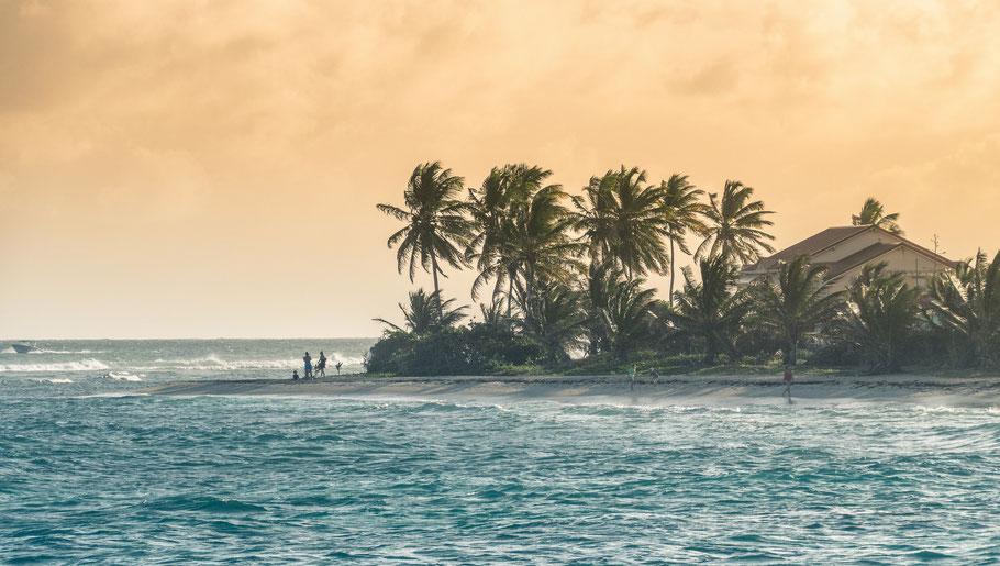 Plage de Saint-François en Guadeloupe - grande Terre