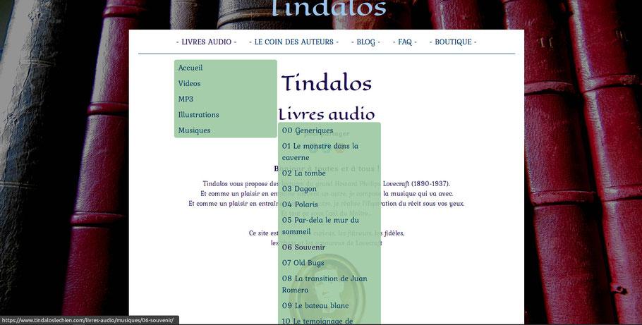 photo menus musique
