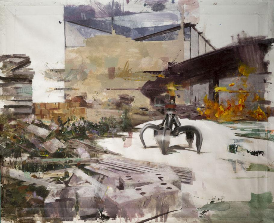 Imagen: LA MARCA ESPAÑA, Cuadro en proceso.  Hacer click para ver más obras