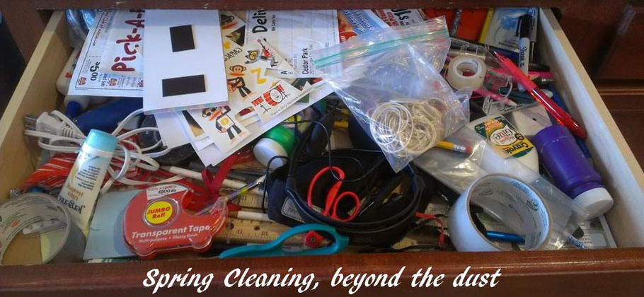 Spring cleaning, beyond the dust