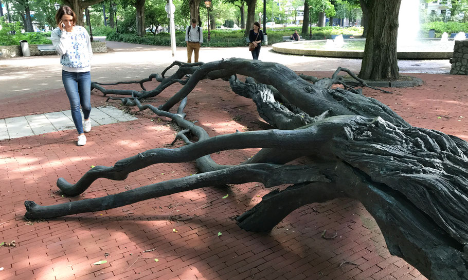 Frederiksplein, Monument Walraven van Hall by Fernando Sánchez Castillo (2010)