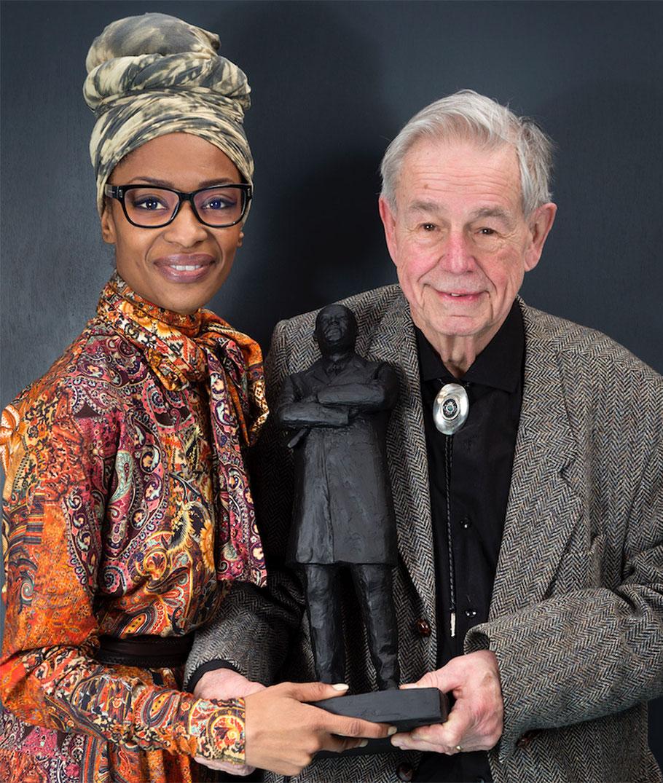 Sylvana Simons and Harcourt Klinefelter, 2018. Photo: Ruud Meulmeester