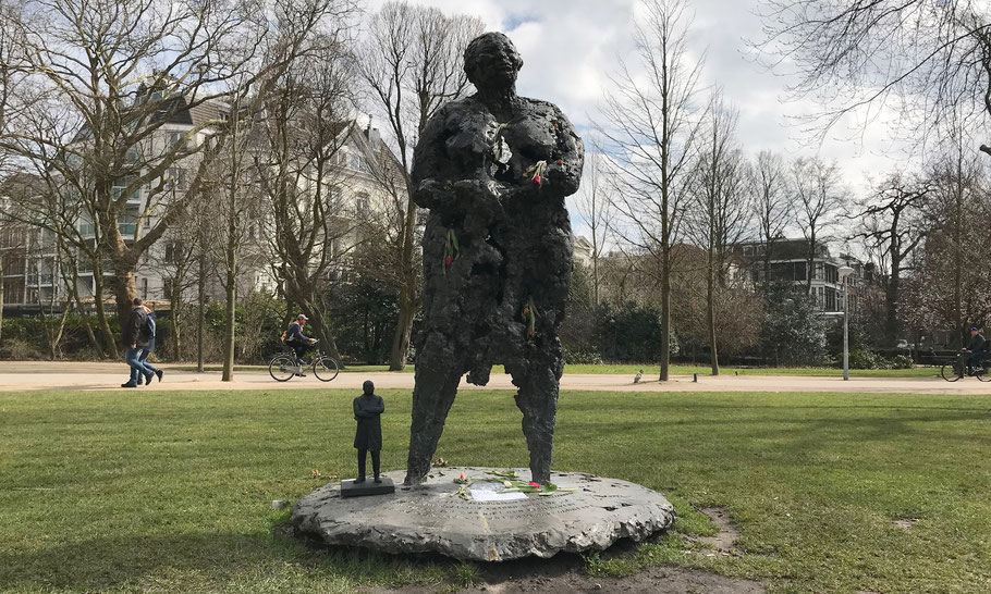 After two weeks the MLK statue was stolen, but the thief was caught by the police, and the statue was rescued