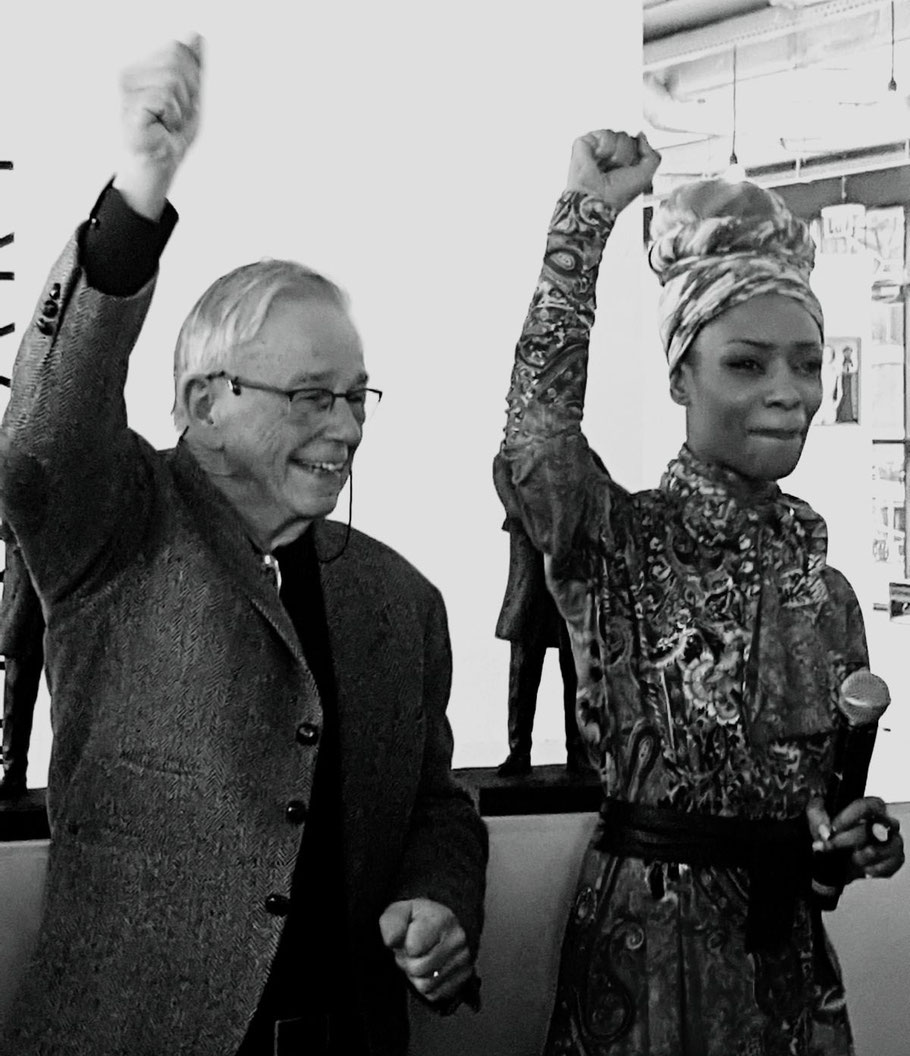 Harcourt Klinefelter and Sylvana Simons on International Day against Racism and Discrimination (and election day) in Amsterdam