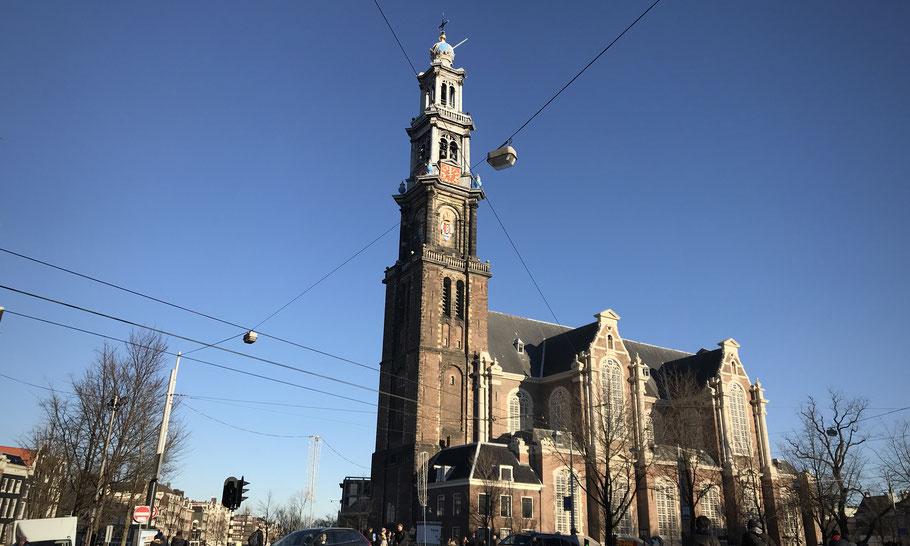Westerkerk at the Westermarkt, built in 1620-1631