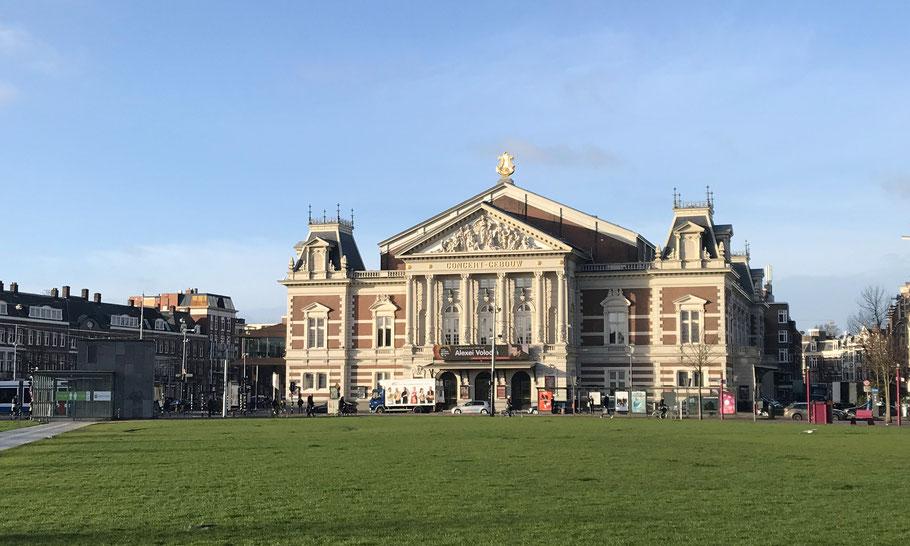 Museumplein, Concertgebouw (1888) by architect Adolf Leonard van Gendt