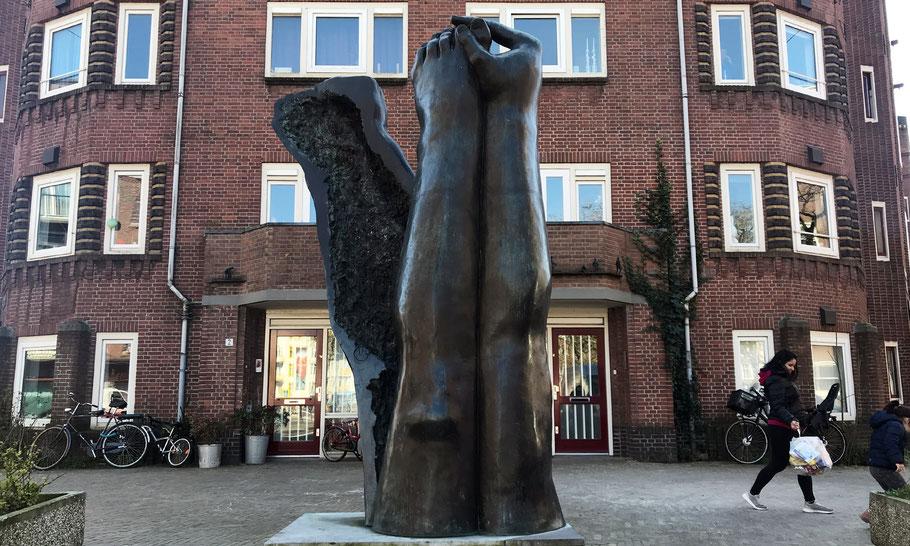Monument against Apartheid and Racism, Krugerplein, by Pépé Grégoire (1986)