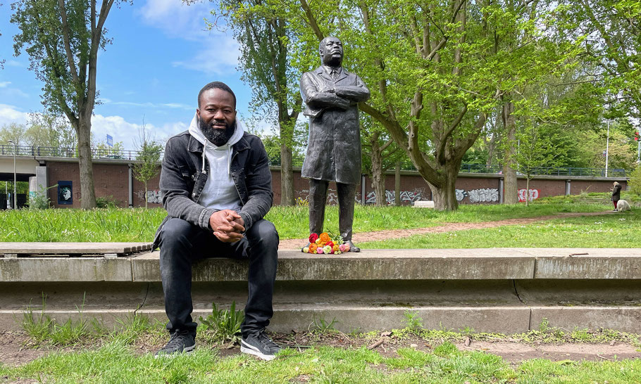 A special encounter: founder of Day of Empathy Jerry King Luther Afriyie and Martin Luther King