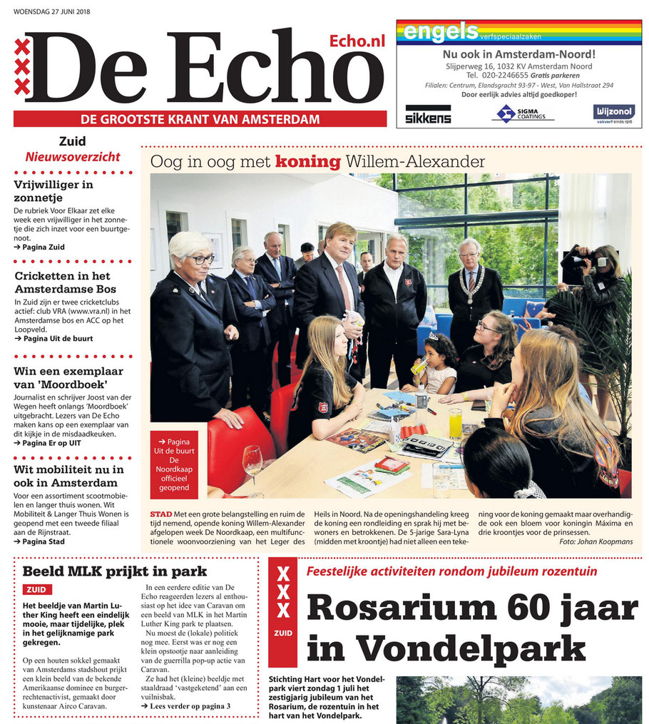 De Echo newspaper, 2 'Kings' on the cover, June 27, 2018