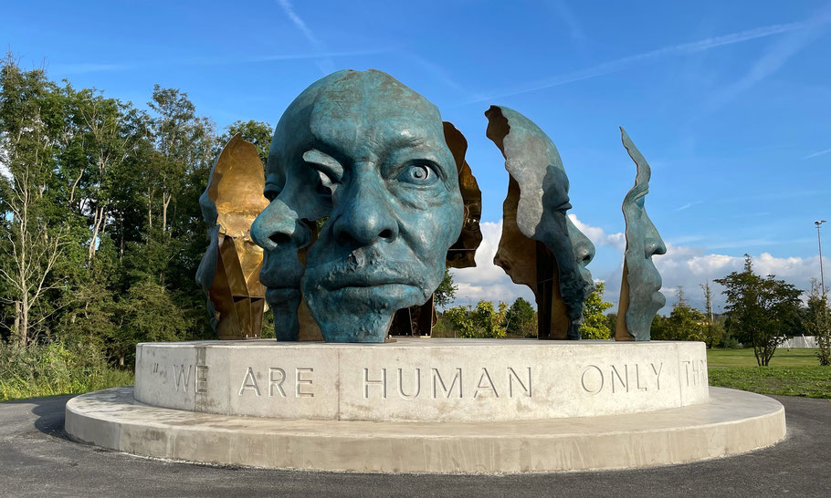 CBK Zuidoost, Kuboko Kumozi Kakinga (temporarily statue) - fighter for peace, freedom and justice by Monika Dahlberg (2019, taken down)