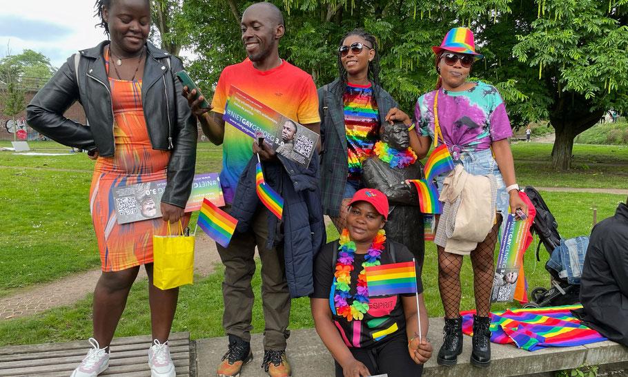 Find the MLK statue, Pride Walk Amsterdam 2021.