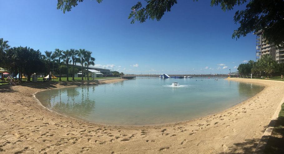 The Lagoon; dort habe ich den ganzen Tag unter Palmen gelegen :-)
