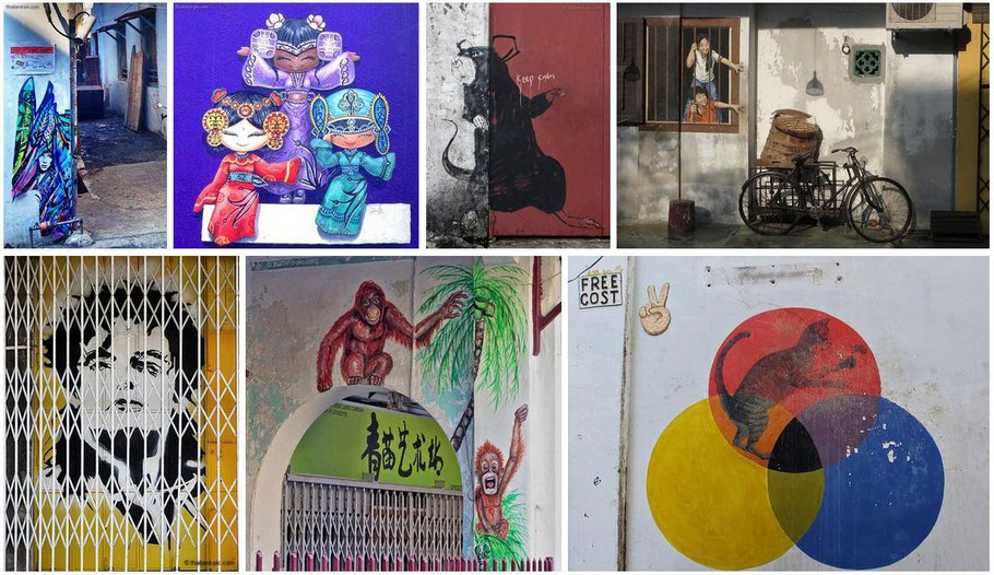Preview Street Art at George Town - Penang - Malaysia