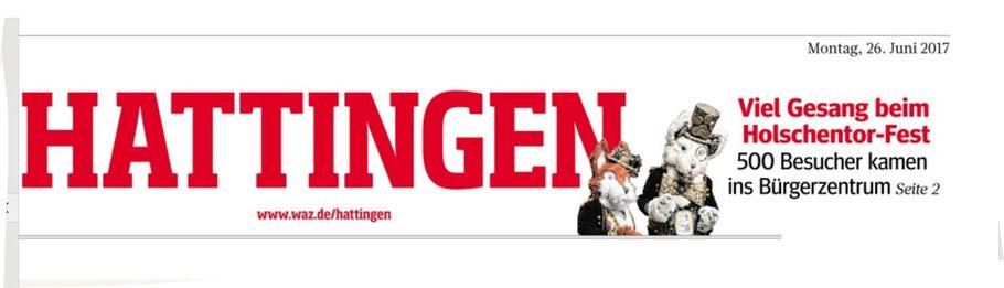 Nero und Rotanes auf der Titelseite der Waz Hattingen.