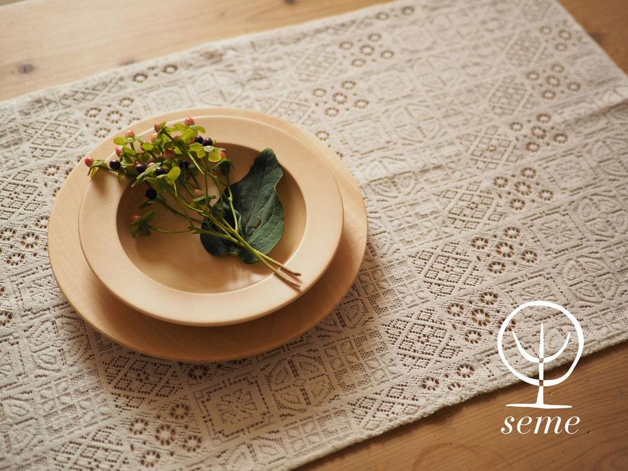 "seme wooden plate ""Obi"" image"