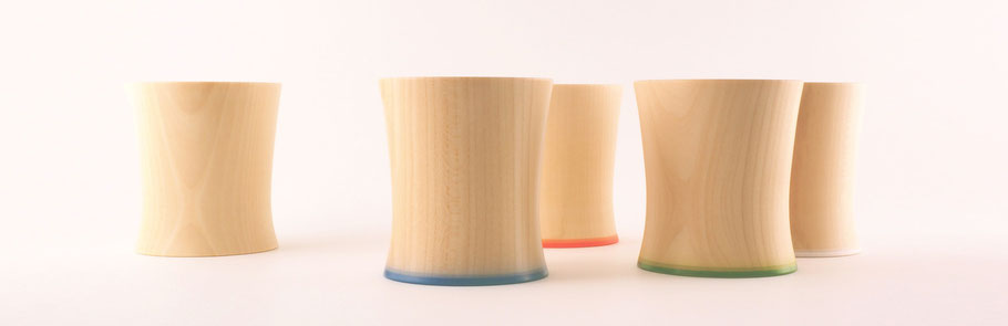 "seme wooden glass ""Tsubaki"" ColorVariation"