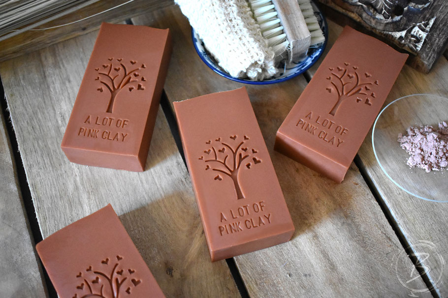 B.nature I Handmade Soap with Lot's of Pink Clay