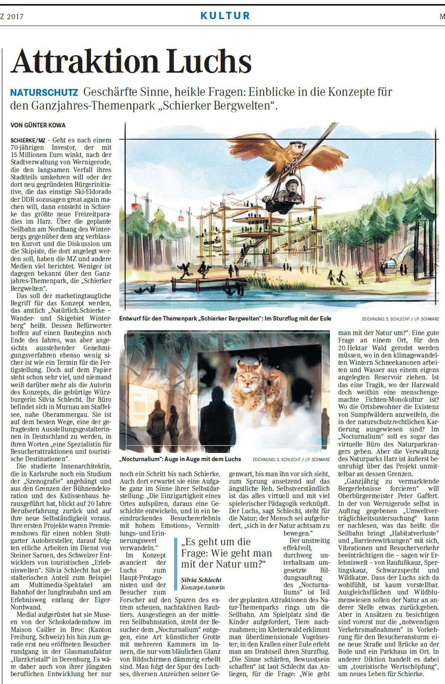 Mitteldeutsche Zeitung, Resort Kultur, 09.03.2017