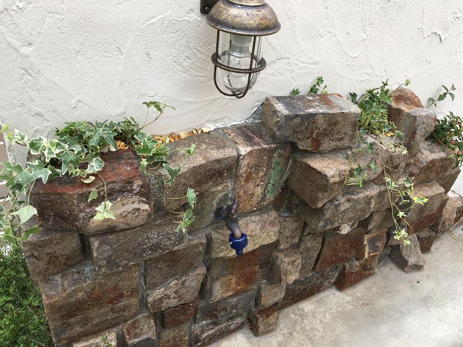 ガーデンの足洗い場 立水栓