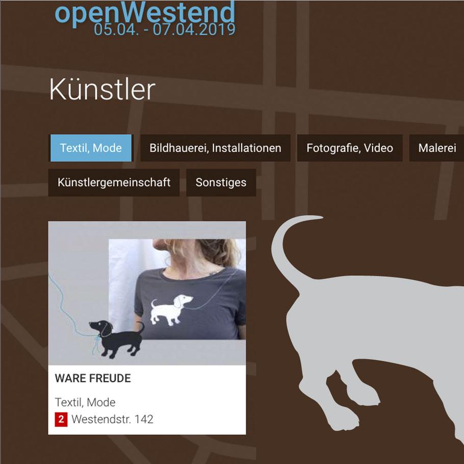 WARE FREUDE öffnet sein Atelier bei OpenWestend München 2019