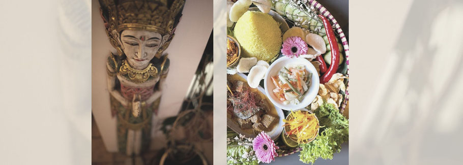 Indonesian figure and food.