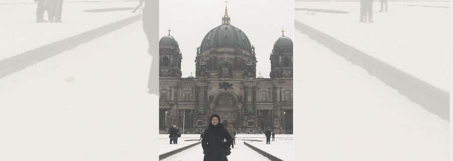 Inna in Germany during winter time
