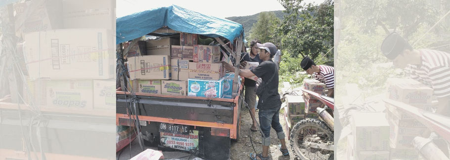 Food supply from Support a Local after the earthquake in Sulawesi, Indonesia