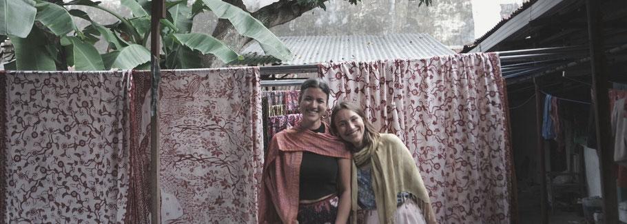 Myrthe (left) & Romée (right) in Indonesia