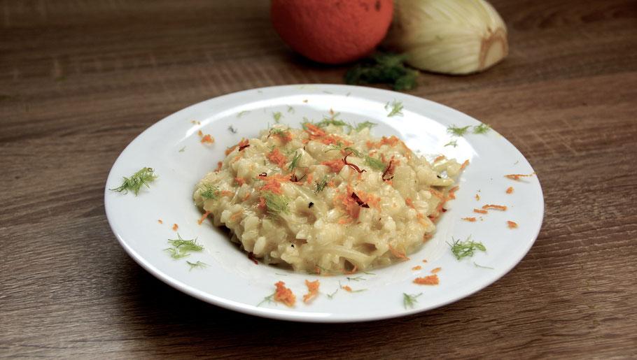 Risotto mit Fenchenl und Orangenzesten - Fenchelristotto
