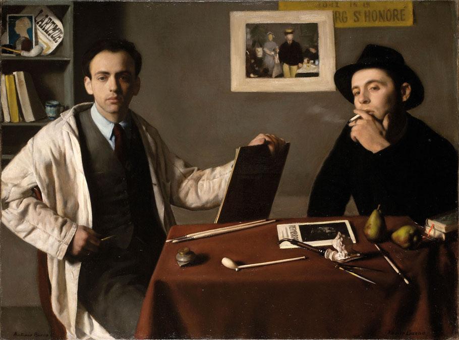 Antonio e Xavier Bueno, Doppio autoritratto, 1944