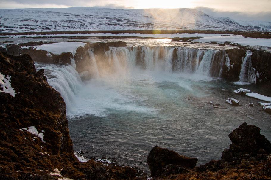 goddafoss, landcape, waterfall, iceland